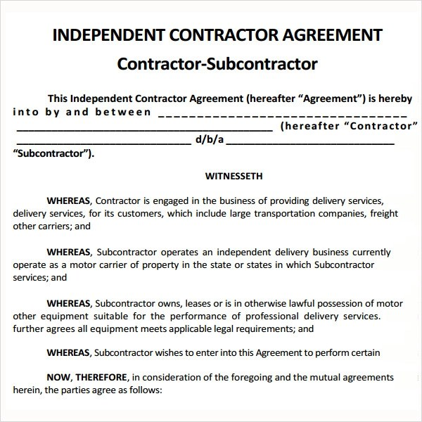 Freelance Agreement Template consulting contract free consulting – Self Employment Agreement