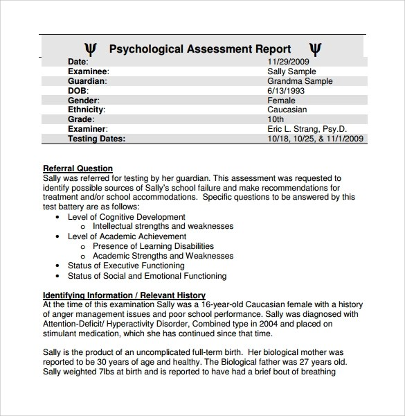 Psychological Evaluation Report Writing Software | Book Talk