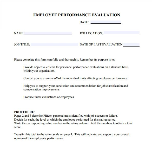 How to write a self evaluation report