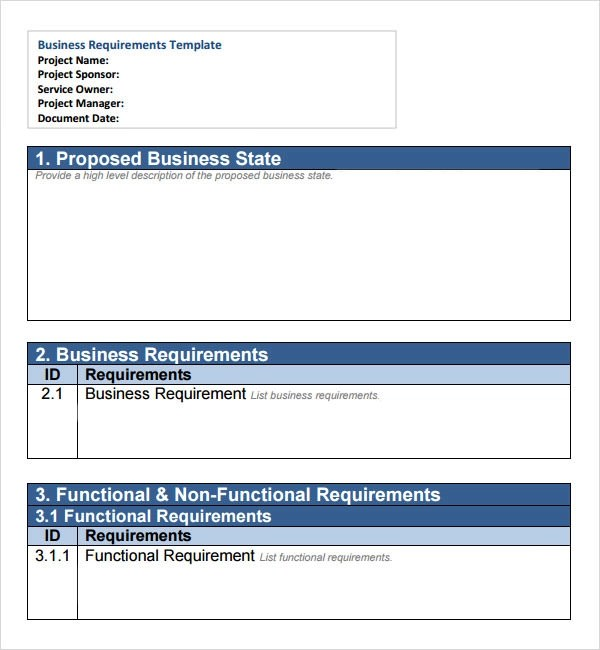 Business Specification Document Template products bookmark – Business Requirements Document Template