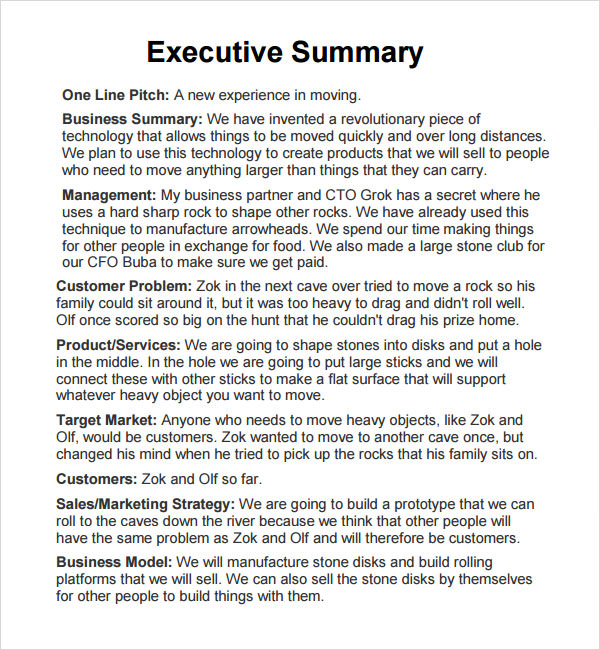 Free Executive Summary Template. Best Photos Of Template Of