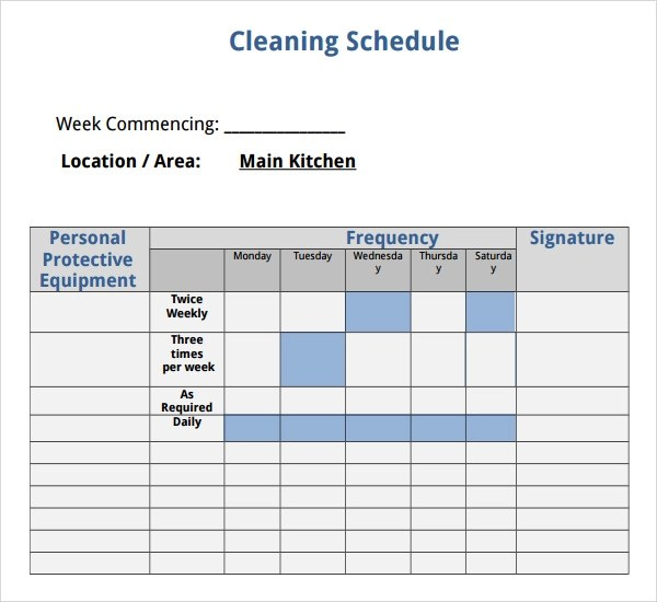 Bathroom Cleaning Checklist For Employees. the cleaning checklist the ...