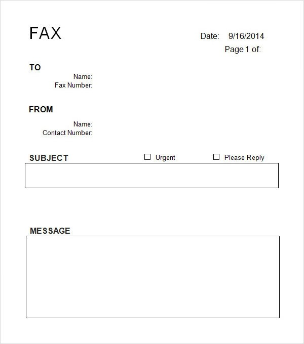 sample cover sheet template 9 free documents download in word pdf