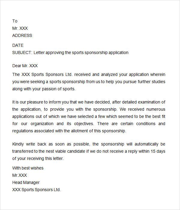 Sports sponsorship letter baseball team sponsorship letter sports sponsorship letter template docoments ojazlink stopboris Gallery