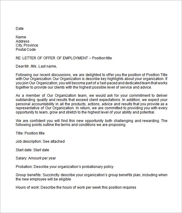 photos employment offer letter template letter samples