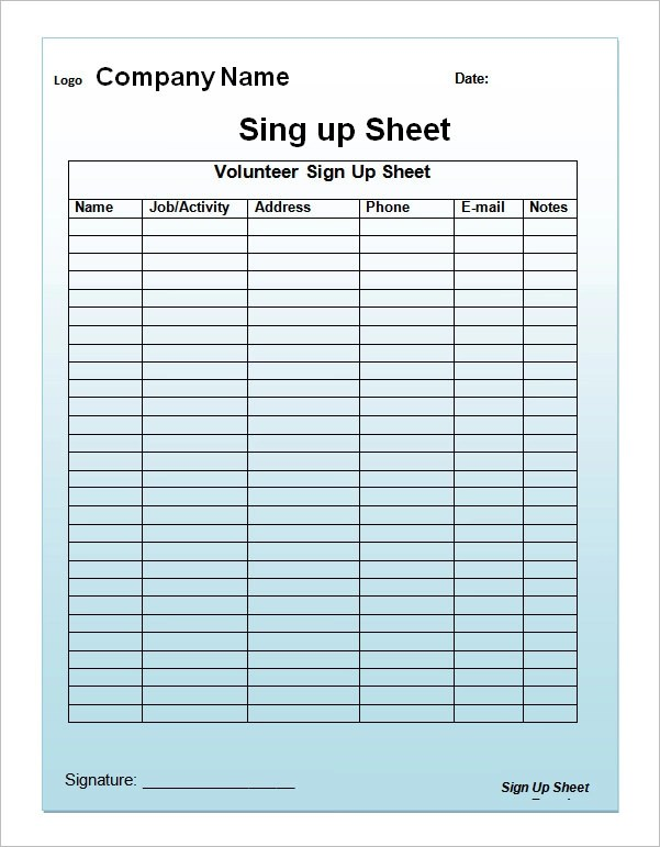 Doc728919 Club Sign Up Sheet Template Free Club Sign up Sheet – Student Sign Up Sheet