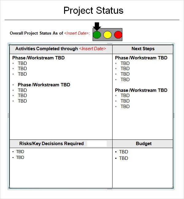 Project Report Templates 11 project report template survey – Monthly Project Status Report Template