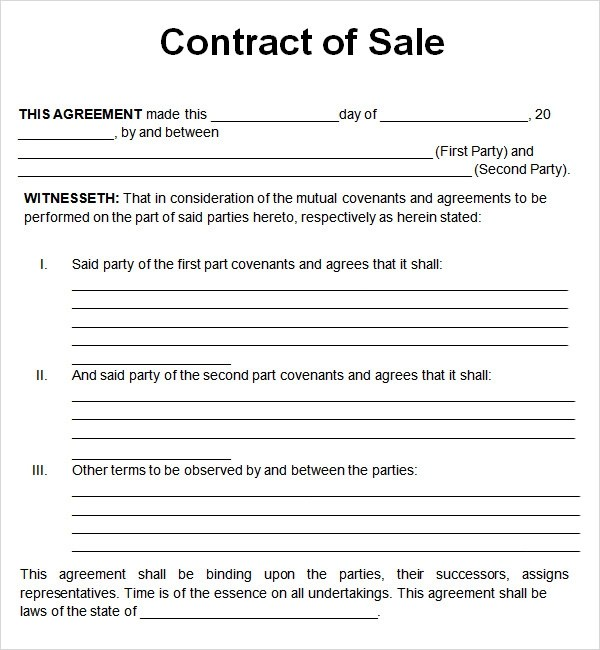 Doc482629 Purchase and Sales Agreement Car Vehicle Purchase – Used Car Sales Contract Template