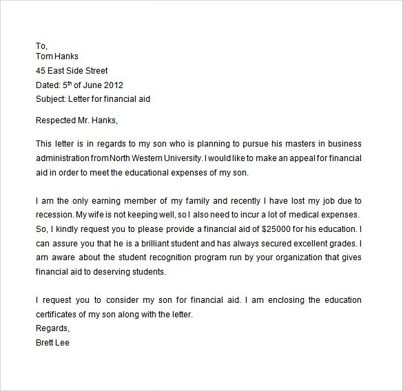 Financial Aid Petition Letter from i2.wp.com