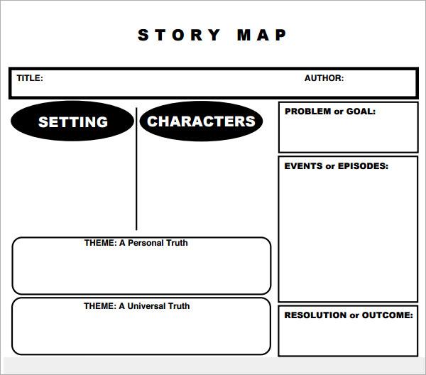 free printable story map templates example cv