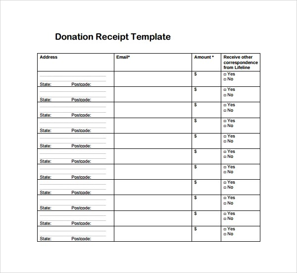 Free 25 Receipt Templates In