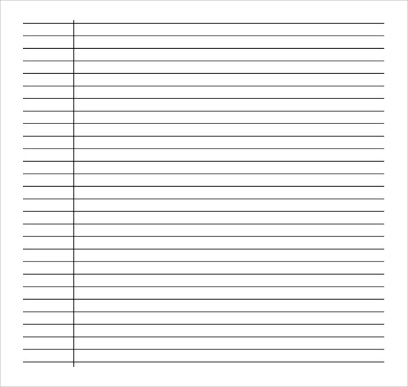 Lined Paper Template printable lined paper english genie college – Print College Ruled Paper