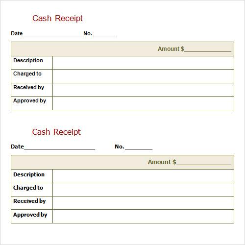 Cash Receipts Journal Template cash receipt template 5 printable – Printable Cash Receipt