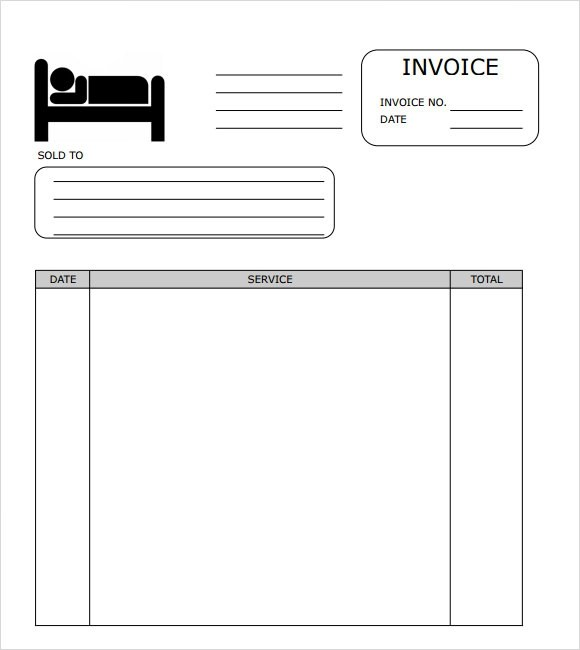 hotel invoice template excel – neverage, Simple invoice