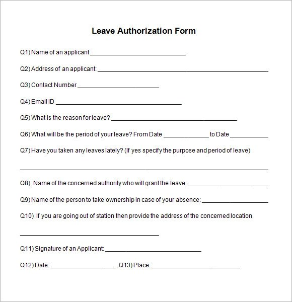 Template For Leave Application boss templates and wedding on – Example of Leave Form