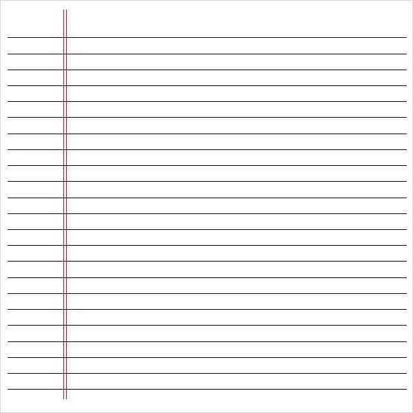 Doc746975 Printable Lined Notebook Paper printable lined – Printable Loose Leaf Paper