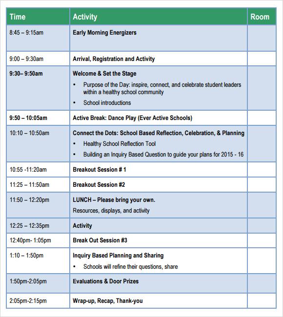 Agenda Examples Templates agendas templates free meeting agenda – Sample School Agenda