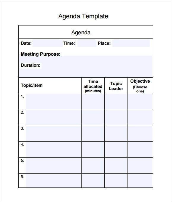agenda templates free word s templates agenda template business – Cool Agenda Templates