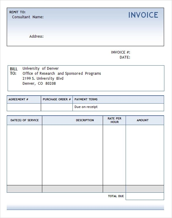 Word Invoice Template free printable invoice template microsoft – Invoice Template Free Word