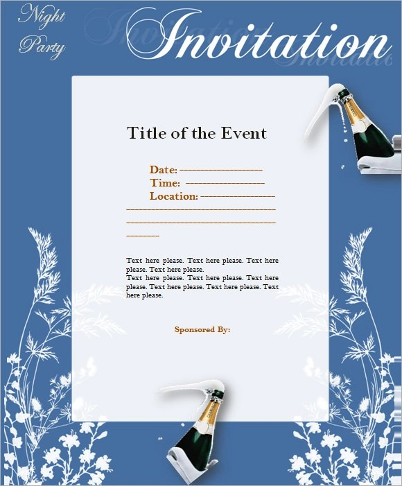 Printable Vip Invitations