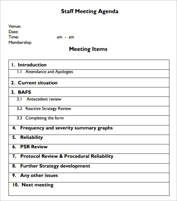 Template Meeting Agenda agenda template 46 effective meeting – Agenda Template for a Meeting