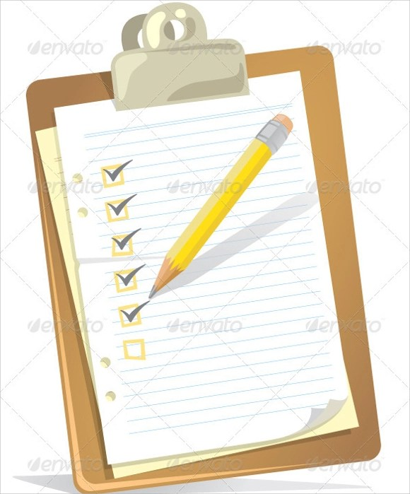 Blank Checklist Template 9 Download Free Document In PDF PSD Word