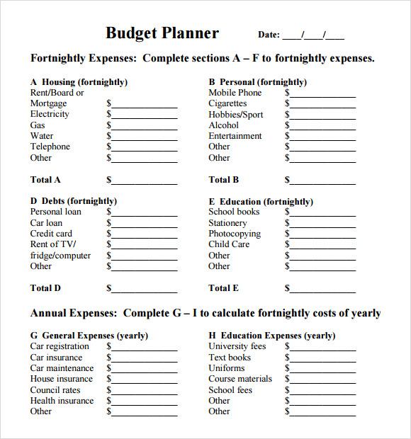 bugget planner