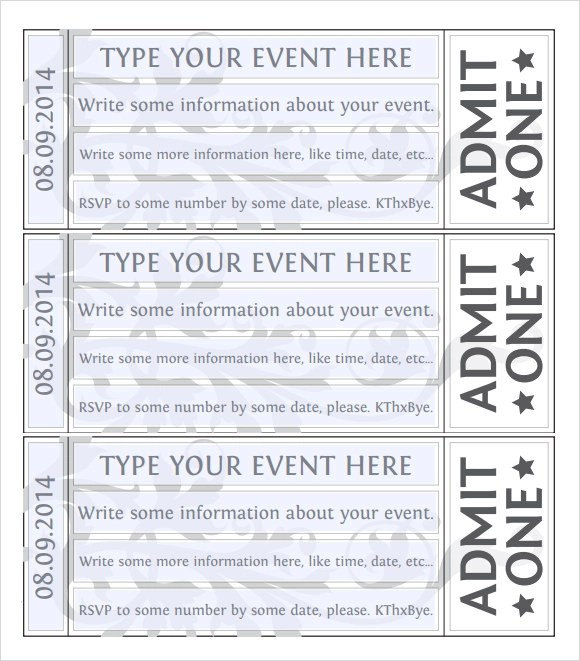 Ticket Template Word how to create tickets in microsoft word – Tickets Template Word