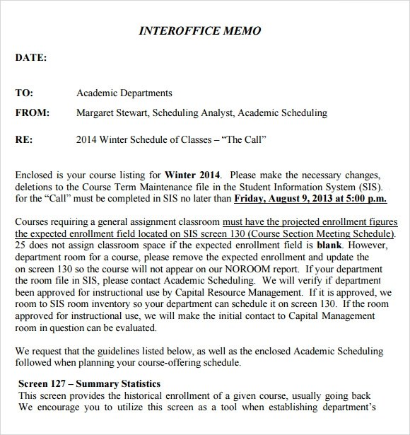 Interoffice Memorandum Template inter office memo best photos of – Interoffice Memo Samples