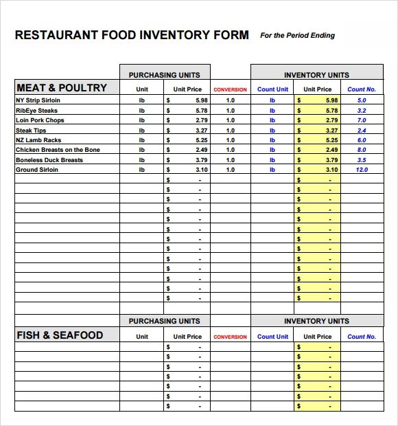 Kitchen Inventory Template office management templates list – Restaurant Inventory Template