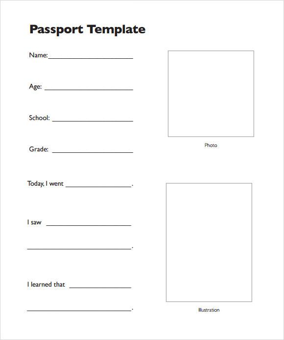 Printable Passport Template design paper for invitations big – Free Passport Template for Kids