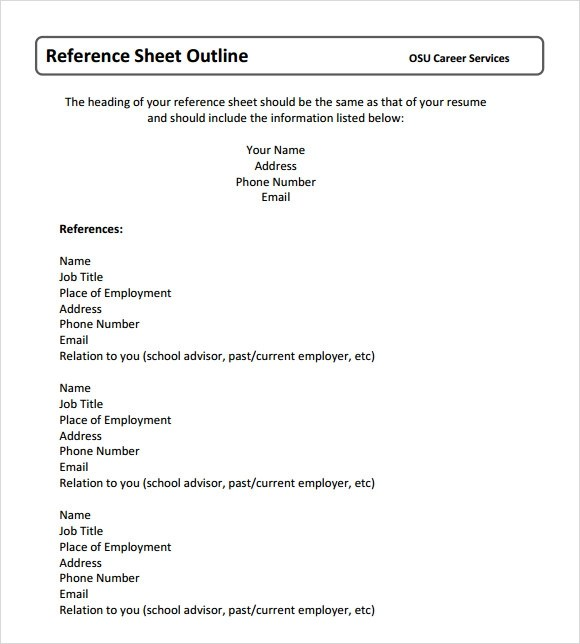 References Template business references template business credit – Business References Template