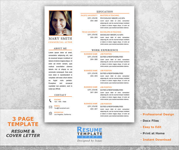 Acting Resume Example. Acting Resume Template Example. Acting