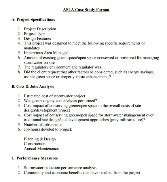 Case Study Analysis Template Apa