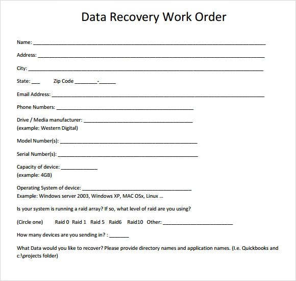 Order Excel Template Purchase