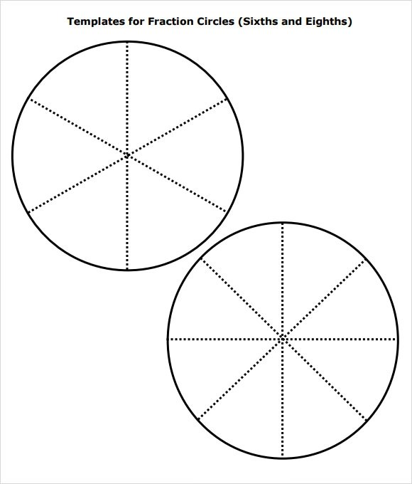 Circle Fraction Templates printable large circle template clipart – Fraction Circles Worksheet