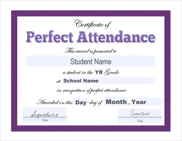 16 Sample Attendance Certificate Templates To Download Sample Templates