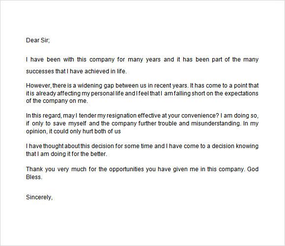 Resignation Letter company director resignation letter Company – Letters of Resignation from a Board