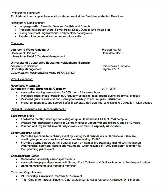 Internship Template. internship proposal template ...