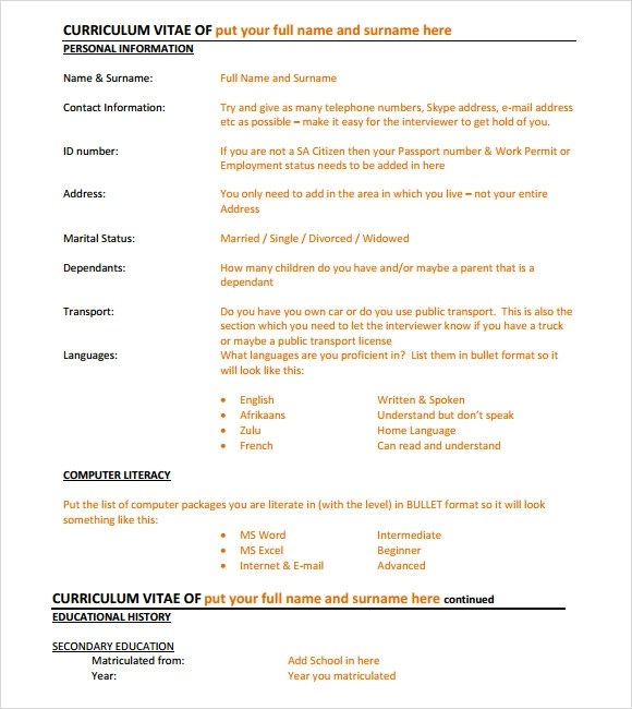 Professional Resume Templates - We can help with.