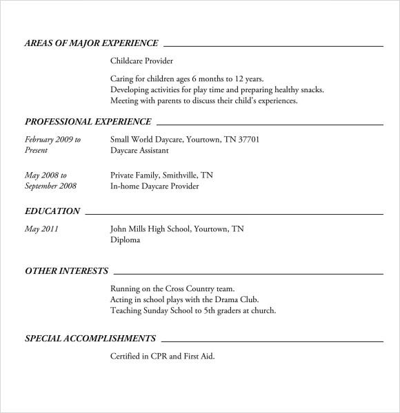 highschool resume new resume high school education template online