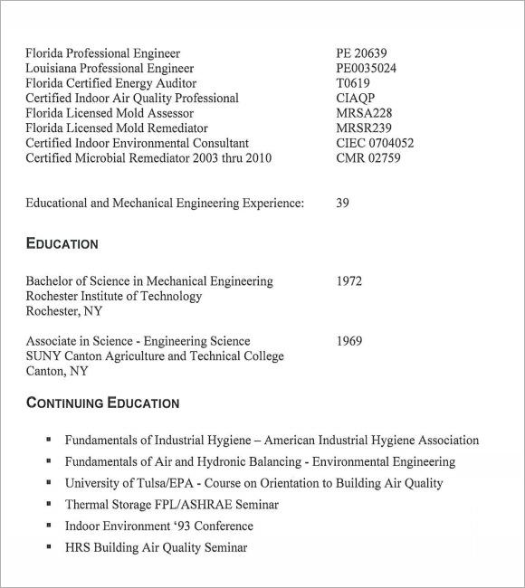 Hvac Technician Resume Example. Power Engineer Resume Template