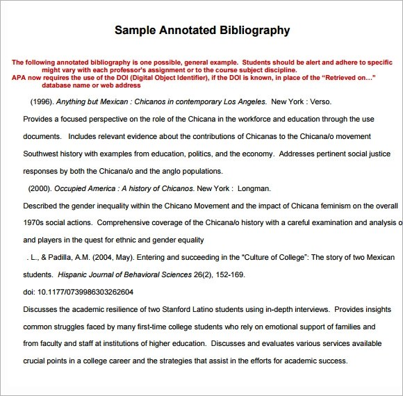 annotated bibliography apa 6th edition
