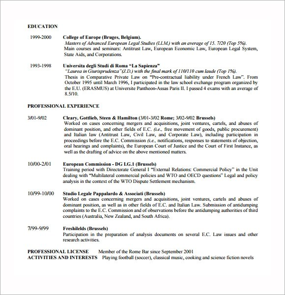 lawyer resume example modern thumbnail sample resume lawyer templates