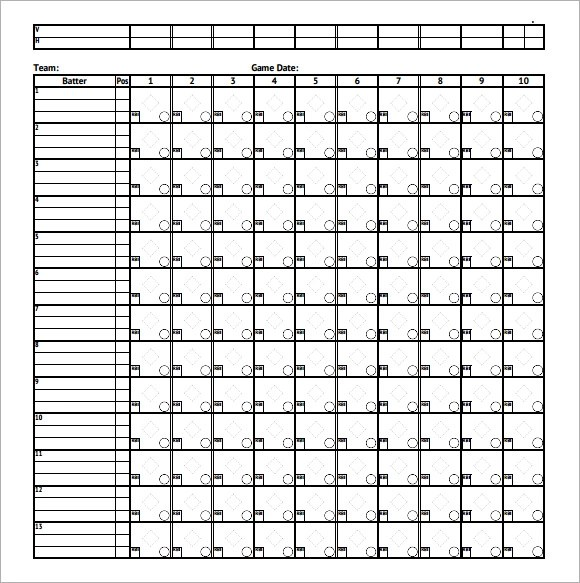 Blank Basketball Scorebook