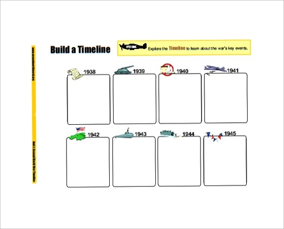 Doc660505 Sample Timeline for Kids Kids Timeline Template – Sample Timeline Template for Kid