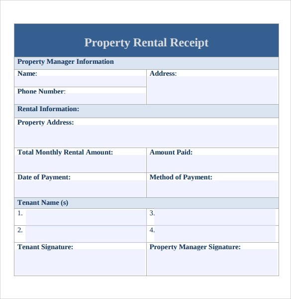 Professional Rent Receipt In Word Projectmanagerclub. Cash