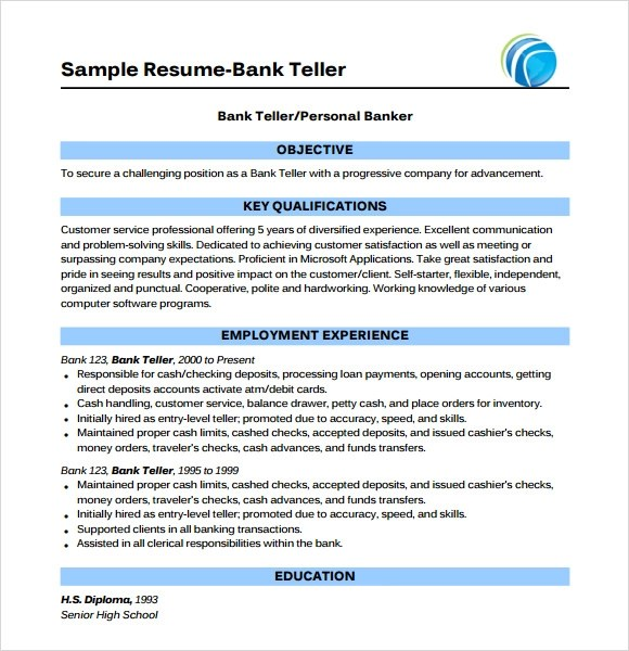 Sample Bank Teller Cover Letter   7 Examples In Word, PDF