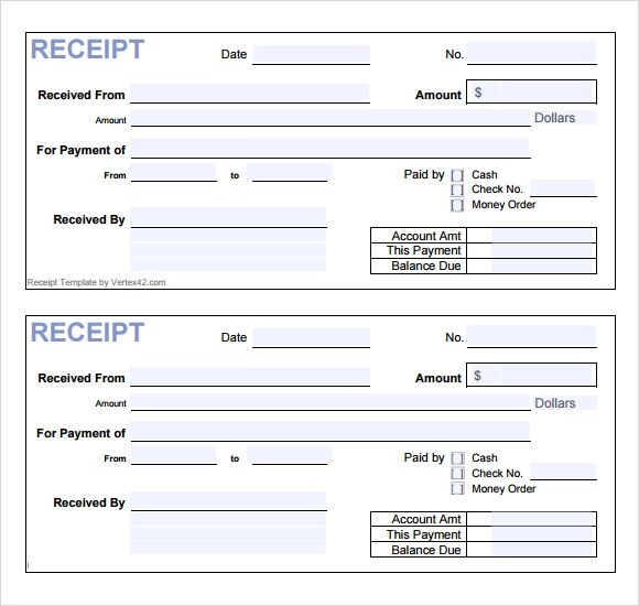 Cash Payment Template fee receipt format free receipt template – Receipt of Payment Template Word