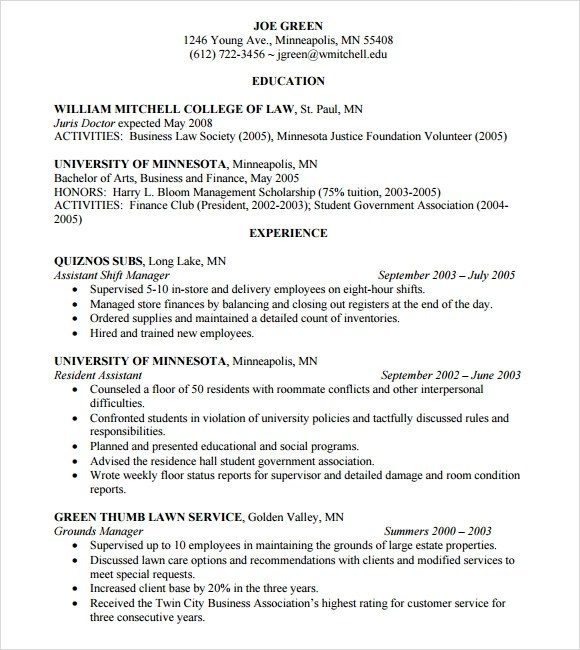 lawyer resume template 10 free word excel pdf format